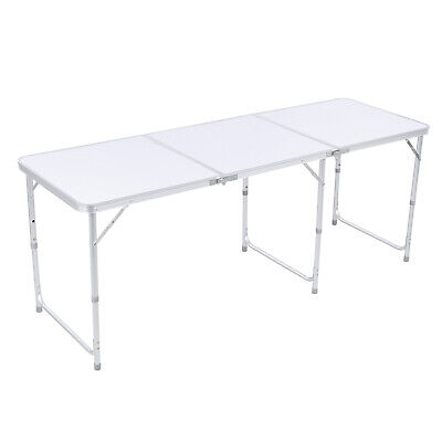 6 FT Portable Folding Table Outdoor Picnic Plastic Camping Dining Party -