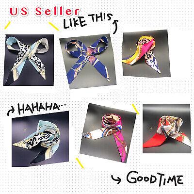 Silk Like Twilly scarf, Handbag Handle Wrap Purse Scarves Hair Bow Ribbon](Hair Scarf)