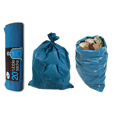 7 x ULTIMATE STRENGTH RUBBLE SACK Super Strong Blue Builders Garden Waste Bag