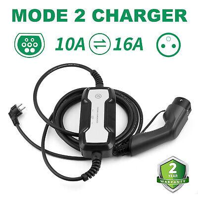 Elektroauto EV Ladekabel Ladebox 6-16A Typ2 Schuko Ladegerät LCD Charger 1Phasig