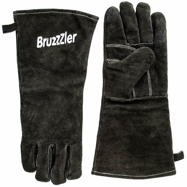 Bruzzzler Grillhandschuhe Handschuhe Ofenhandschuhe Kamin Hitzebeständig Ofen