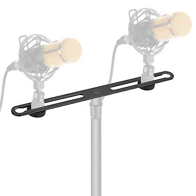 Neewer Adjustable Microphone Bar Dual Mic Holder for Holding 2 Mics or Boom Arms