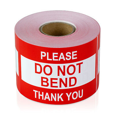 Please Do Not Bend Thank You Stickers Caution Care Careful Labels 2 X 3 1pk
