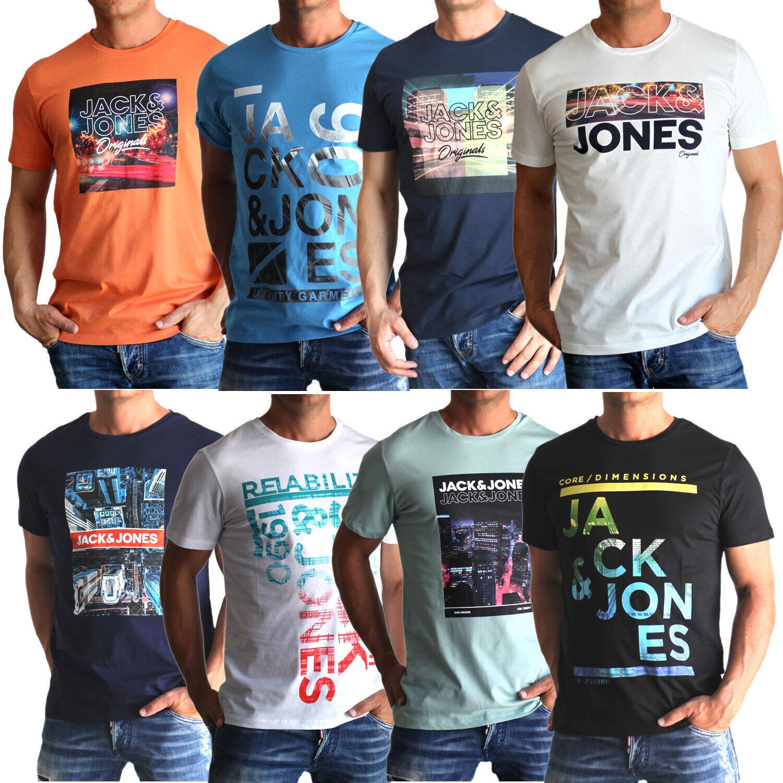Jack & Jones Herren T-Shirt mit Aufdruck im 3er oder 6er Mix Set Rundhals SALE