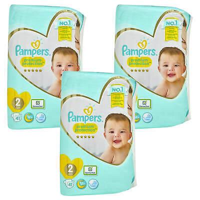 3x 41 = 123 Stück Pampers Premium Protection Größe 2 Mini 4-8kg Windeln new baby