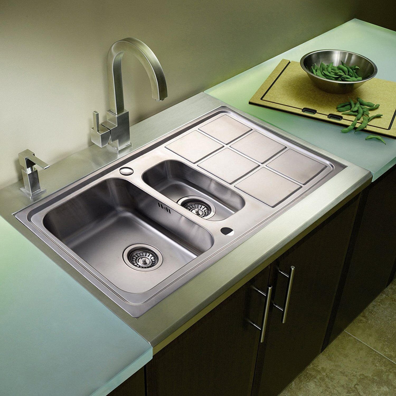 Edelstahl Küchenspüle Einbauspüle Spüle Spülbecken Küche 108x56x23cm ...
