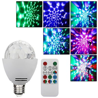 3W E27 Disco Ball Lamp RGB Rotating LED Strobe Party Bulb Stage Light + - Led Disco Ball
