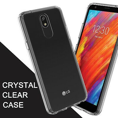 For LG Aristo 4+ Plus Clear Case Glossy Ultra Slim Cover +Screen Protector -