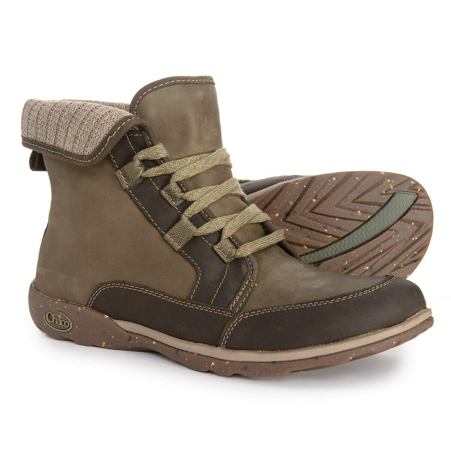 Chaco Barbary Leather Boots  Ivy Brown Grey