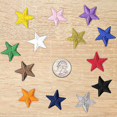 One Inch Iron on Star Patches, Embroidered Patch in 13 Color