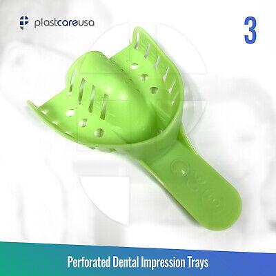 Autoclave Perforated Dental Impression Trays 3 Medium Upper Bag Of 12