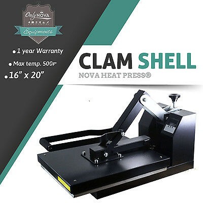 Nv-20 16x 20 High Pressure Portrait Clam Shell Heat Press Rhinestone Htp Htv