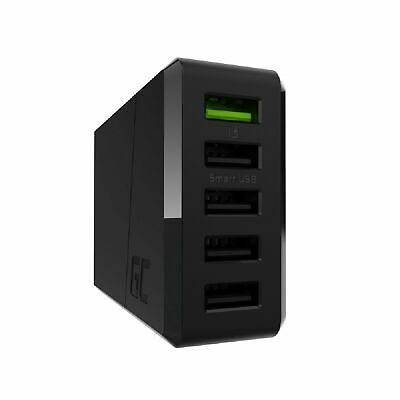 USB Ladegerät Green Cell 52W ChargeSource 5 Netzteil Netzstecker Adapter 5x Port