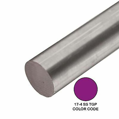 17-4 Tgp Stainless Steel Round Rod 0.500 12 Inch X 48 Inches