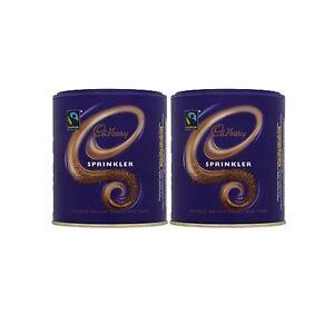 2 X Cadbury Sprinkler - To Sprinkle On Top Of Coffee And Hot Chocolate