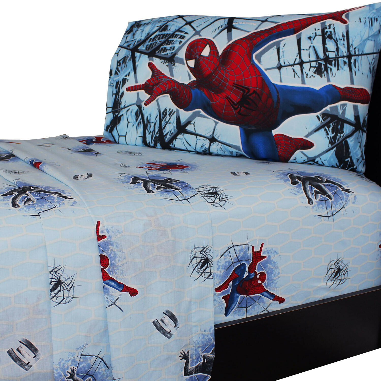 nEw 4pc SPIDERMAN 3 FULL BED SHEET SET - Marvel Comics Spide