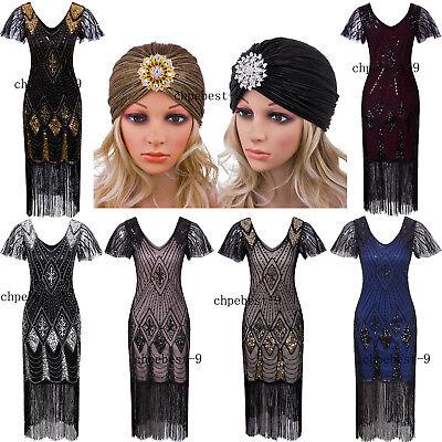 Vintage 1920s Flapper Dresses  Evening Gowns 20s Party Womens Clothing Plus Size