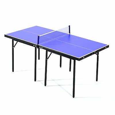 Tavolo da Ping Pong Pieghevole in Legno MDF 153x76.5x67 cm Blu e Nero Benzoni