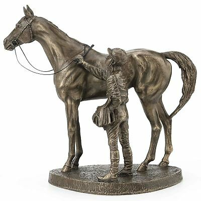 06005 Mare /& Foal Horses Head Figure Signed David Geenty Cold Cast Bronze