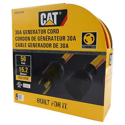 Caterpillar Cat Ckg330-050 L5-30 3 Prong 30 Amp Generator Extension Cord 50ft.