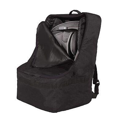 حقيبة ظهر JL Childress Ultimate حقيبة ظهر مبطنة لمقعد السيارة وحقيبة سفر وغطاء لمقعد السيارة أسود