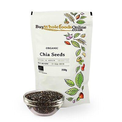 Organic Chia Seeds 250g   Buy Whole Foods Online   Free UK P&P