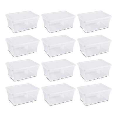 Sterilite 16 Quart Clear Stacking Storage Container Tub, 12 Pack | 16448012  - Storage Tub
