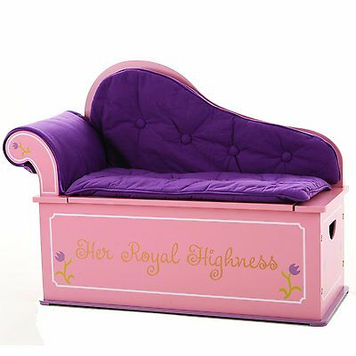 Levels of Discovery Toy Box Bench Seat w Storage Princess Fantasy Luxury -
