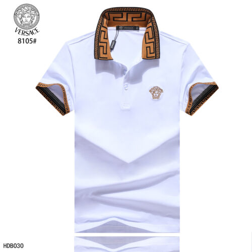 New 2020 Men's Versace Polo Shirt 100% Cotton T shirt Lapel Short sleeve