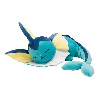 Pokemon Center Original Limited Plush Doll Sleeping Vaporeon JAPAN OFFICIAL