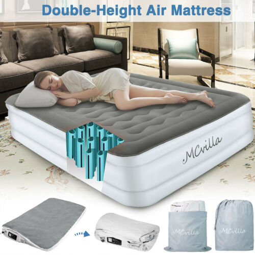 Airbed Electric Inflatable Mattress with Built-In Air Pump Q