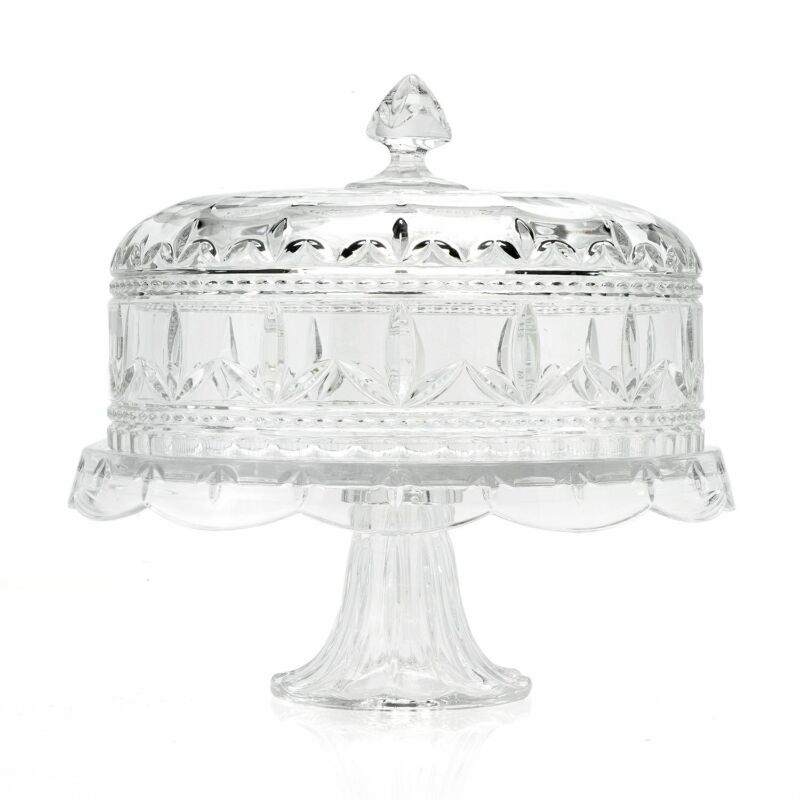 "Marquis by Waterford Finley 12.5"" 3-in-1 Crystal Cake Plate w/ Lid"