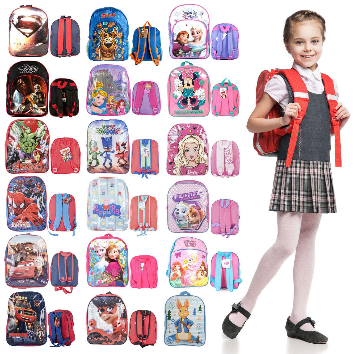 Disney Backpack For Kids Boys Girls Toddlers Character Rucks