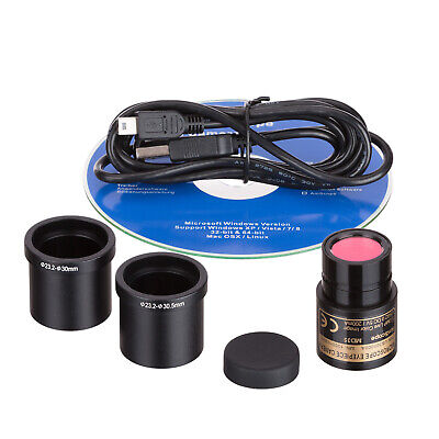 AmScope Microscope USB Digital Camera Imager Still & Live Video Calibration Kit