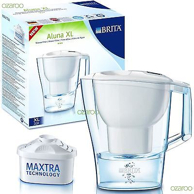 BRITA Aluna 3.5L Litre XL Large Home Water Filter Jug with MAXTRA Filter - White