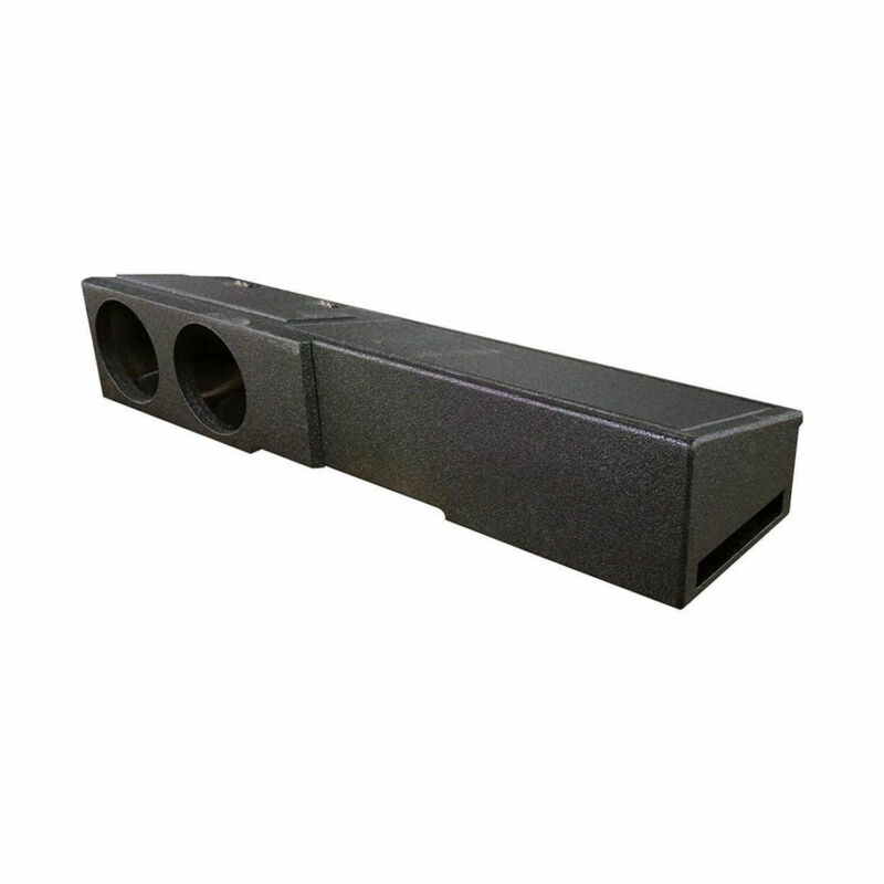 QPower QBGMCFF07208 8 Inch Dual Port Subwoofer Box for GMC and Chevy Crew Cab