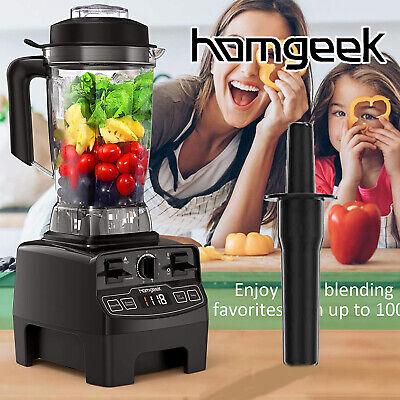 Homgeek 1450W Countertop Blender For Juice Smoothie Ice Fruit 68oz BPA-Free G9H6