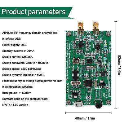 Usb Rf Spectrum Signal Analyzer With Tracking Source Module Analysis Tool Z2q7