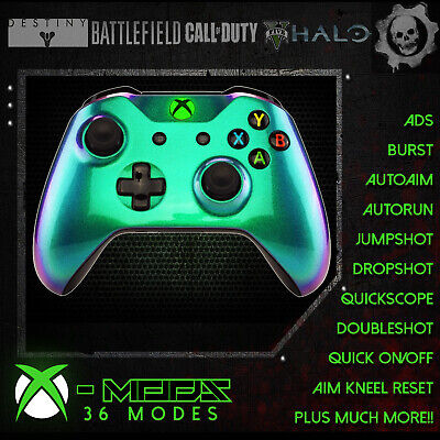 XBOX ONE RAPID FIRE CONTROLLER - Chameleon Green to Purple -BEST ON EBAY!