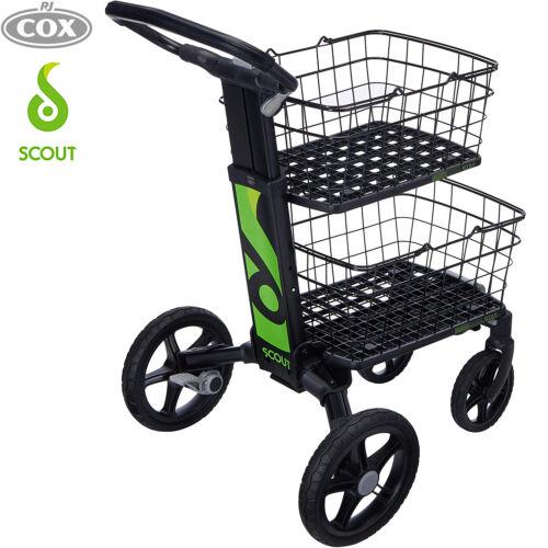 Scout Cart Folding Black Trolley that