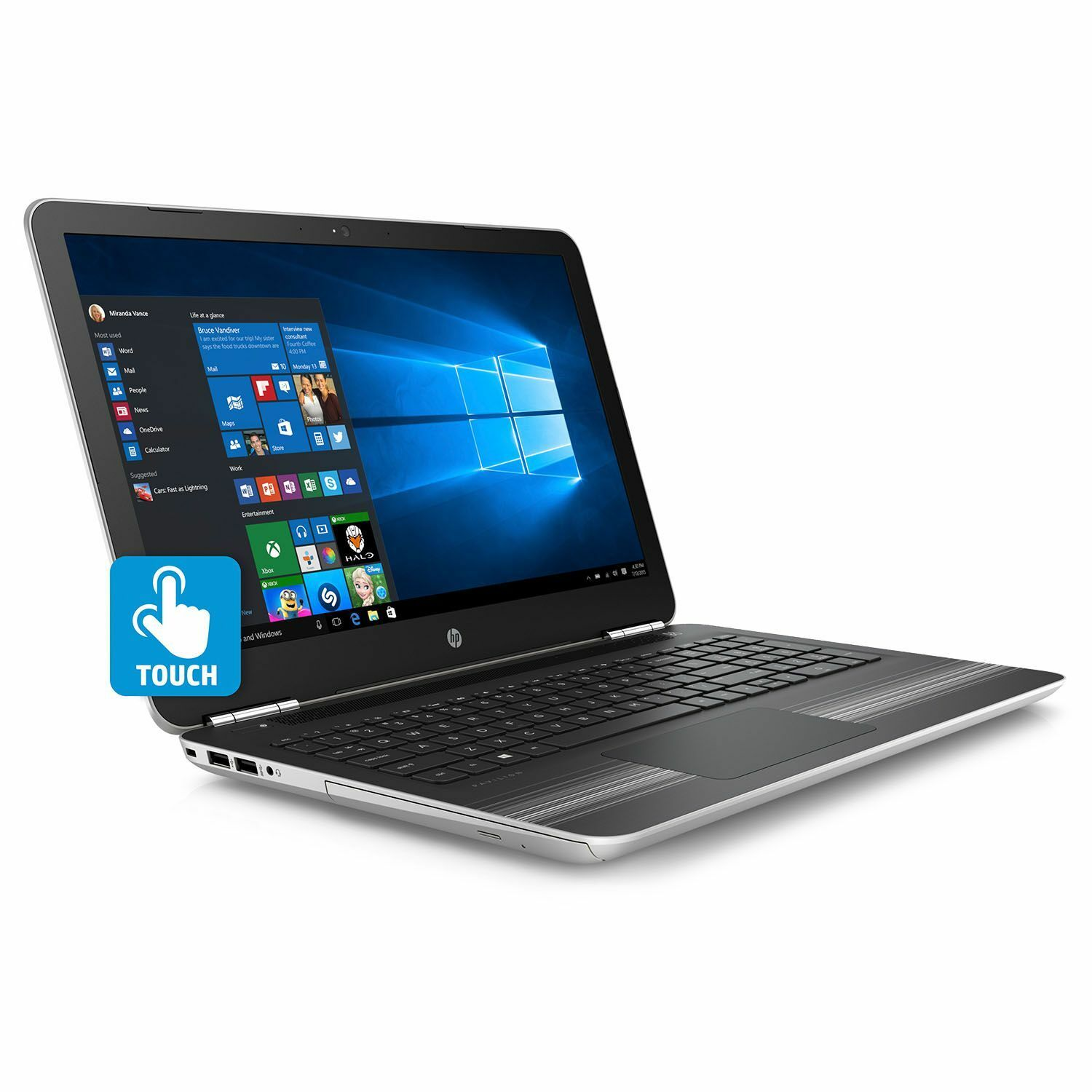 HP Pavillion 15-au057cl Touch 6th Gen i5 8GB Ram 1TB Hdd Win 10 1Year Warranty By Ebay @ Rs.37,990