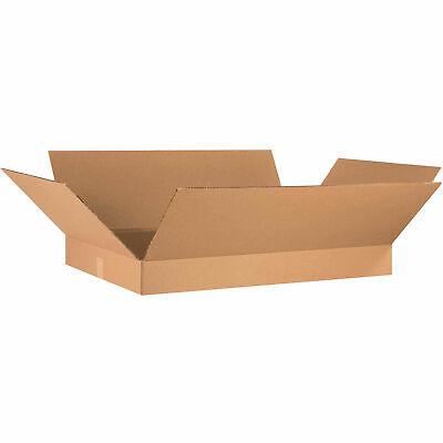 Flat Cardboard Corrugated Boxes 36 X 24 X 4 Kraft 65 Lbs Capacity Ect-32