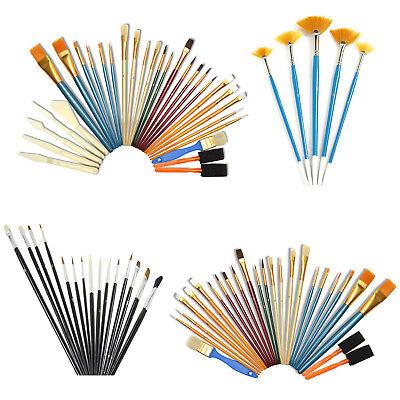 Pinsel Set Rundpinsel Flachpinsel Fächerpinsel Pinselset Künstlerpinsel Acryl Öl