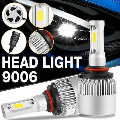 (9006/HB4 Car Auto LED Headlight Bulbs Driving Replacement 6500K 8000LM Frot US)