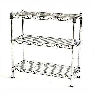 3 Tier Wire Shelving Unit Adjustable Rack Metal Shelf Garage Kitchen Storage New