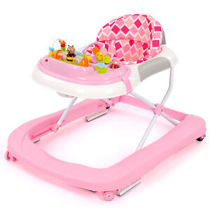 2 In 1 First Steps Baby Walkers Sounds Music&Toys Fun Push Along Walker Toddlers