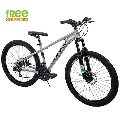 "Huffy Mountain Bike 26"" Men Gray Bicycle 21 Speed Disc Brake Shimano New! Huffy Steel Bicycle"