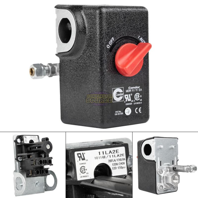 """Condor 11LA2E Pressure Switch Control Valve 120-150PSI 1 Port 1/4"""" FNPT MDR11/11"""
