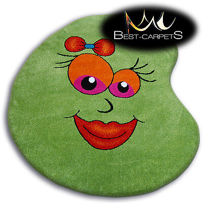 Thick MODERN RUGS 'PAINT' CARPETS ORIGINAL COLORFUL Smile Lips For Kids