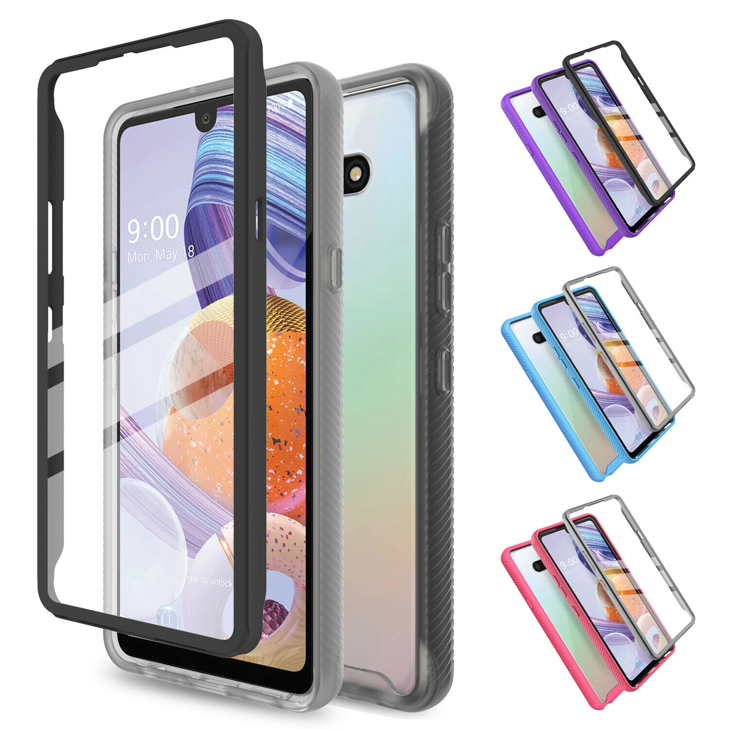 For LG Stylo 6 Shockproof Clear Slim Case Cover With Built-in Screen Protector Cases, Covers & Skins
